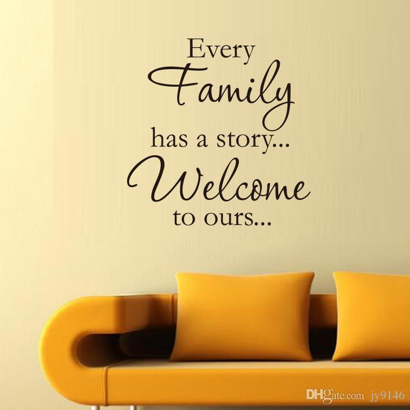every family has a story wall stickers quotes vinyl removable