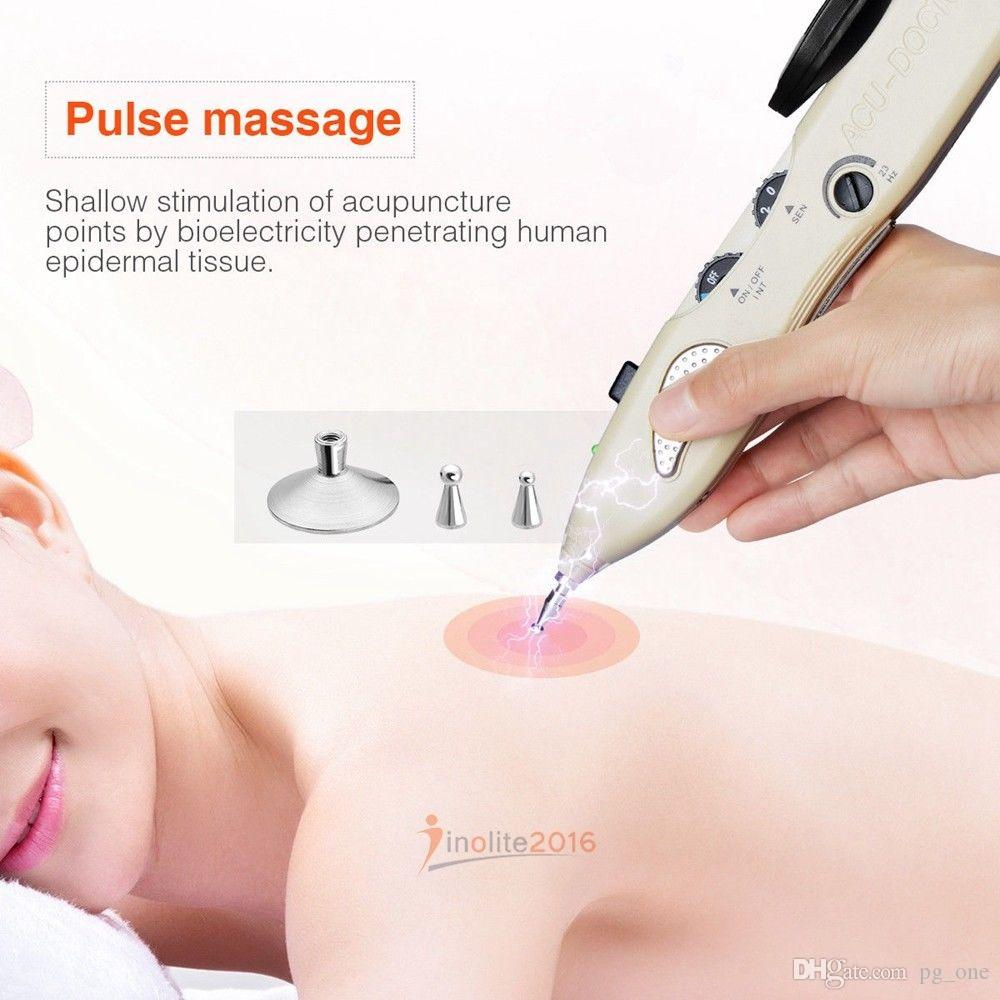 Hot Sale Electric energy meridian acupuncture point massage pen automatic meridan detector diagnosis acupuncture stimulation massager device