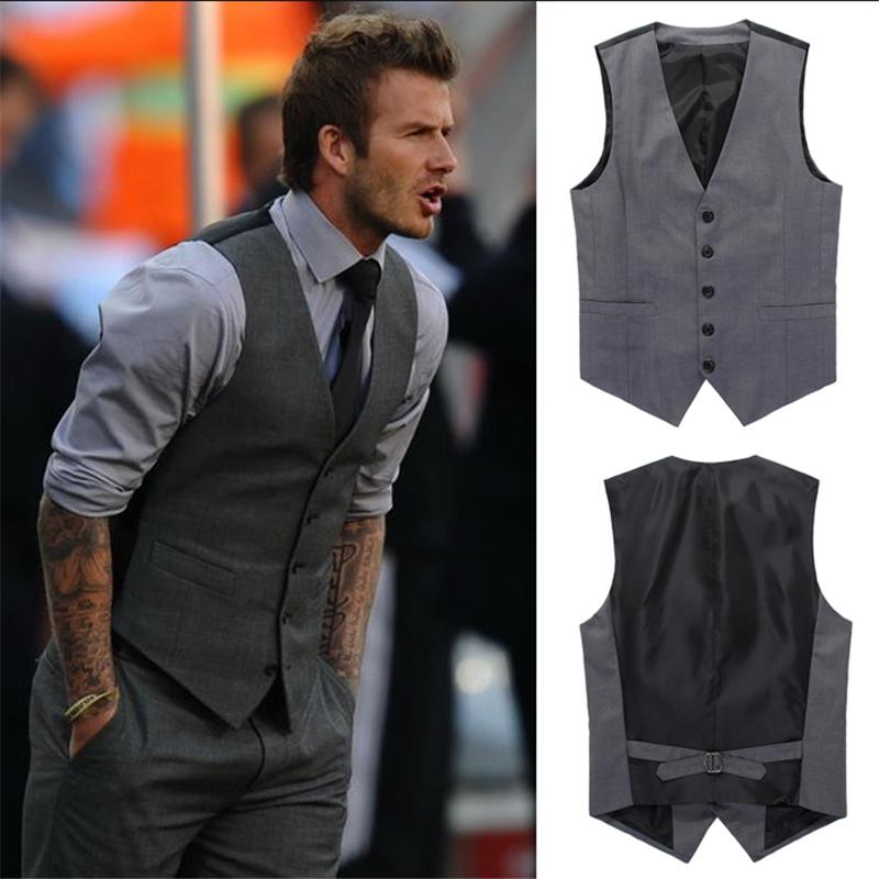 2019 2017 High Quality Goods Cotton Fashion Design Suit Vest / Grey Black  High End Men\u0027S Business Casual Single Breasted Suit Vest From Whitecloth,