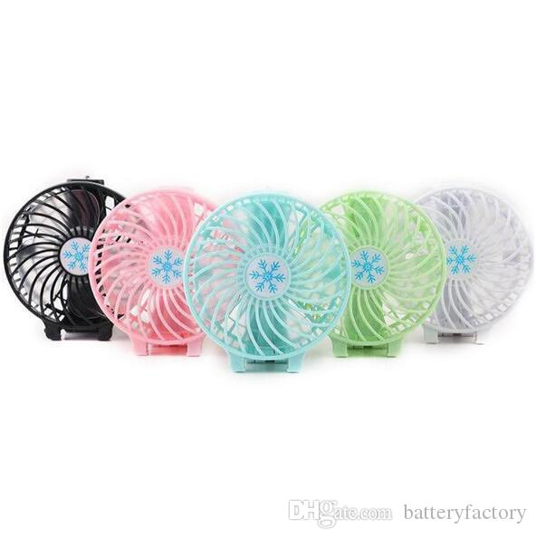 NEW Handy Usb Fan Foldable Handle Mini Charging Electric Fans Snowflake Handheld Portable For Home Office Gifts RETAIL BOX DHL free shipping