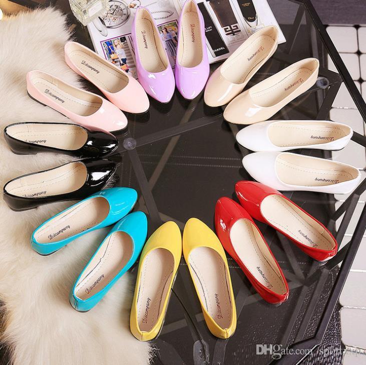 drving deri Sonbahar yeni Koreli gündelik moda düz şeker renk bayan kadın ayakkabıları sürüş ayakkabıları soild A110