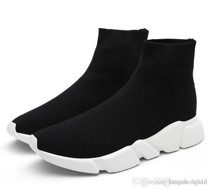 Klasik Stil Lüks Tasarımcı Hız Trainer Streç Örgü Orta Sneakers Moda Çorap Ayakkabı Erkek Kadın Koşu Çorap Botları Koşucular Spor Çizmeler