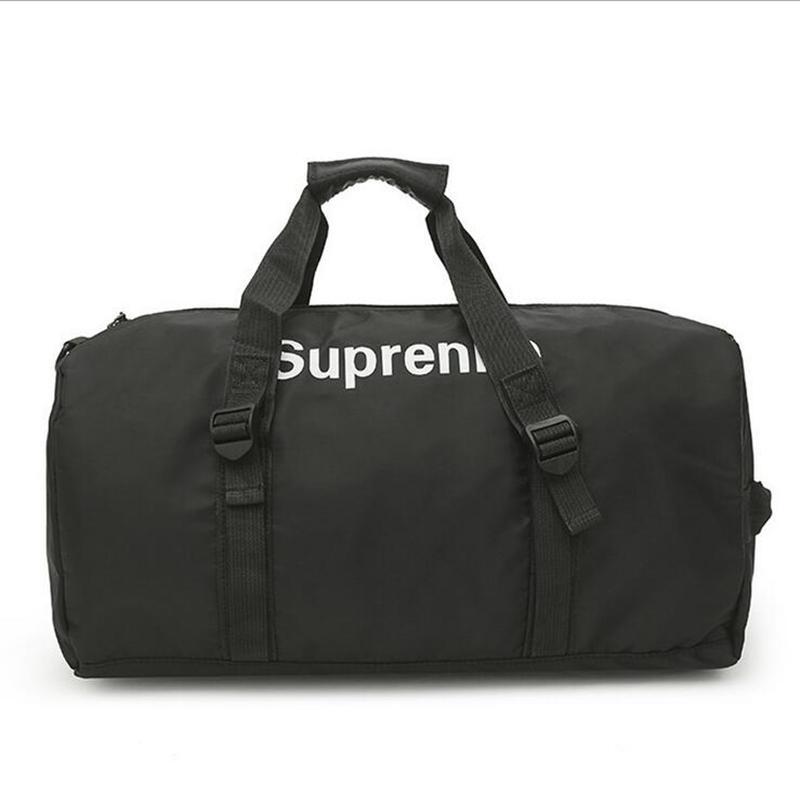 Marca de Moda Extra Grande Weekend Duffel Bag Grande Saco de Viagem dos homens de Negócios de Poliéster Popular Design Duffle