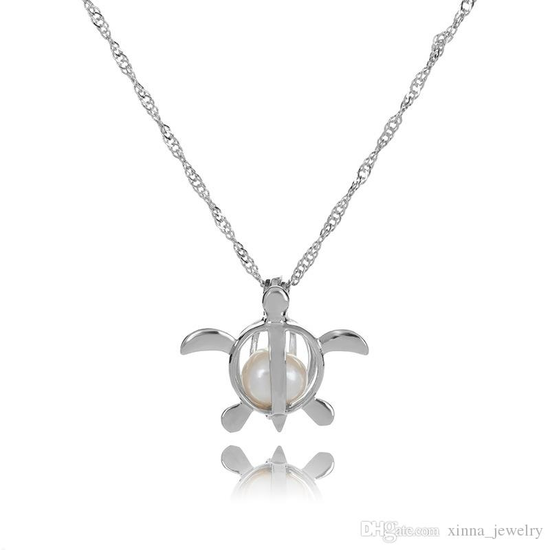 Toptan 2020 Aşk İstek İnci Kafesleri Locket kolye ile Oyster Pearl Mix Tasarım Moda Hollow Locket Clavicle Zincir kolye