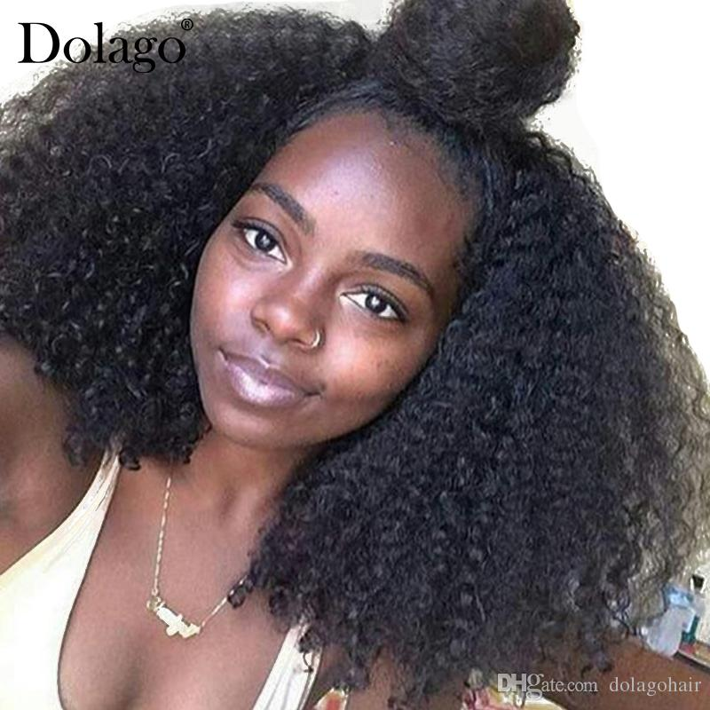 4B 4C Kinky Curly Clip In Human Hair Extensions Brazilian Clip-Ins Full Head 7 Pcs/Set 120G Remy Hair Dolago Nautral Color