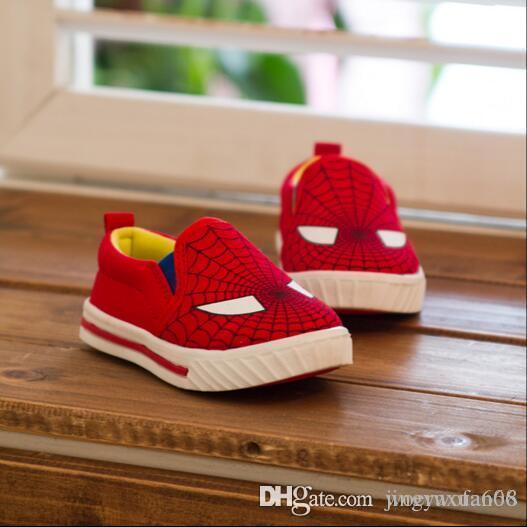 Children's running shoes New Children's Superman / spider man The boy Canvas shoe Shoes Casual shoes 1 years old -7 years old Whol