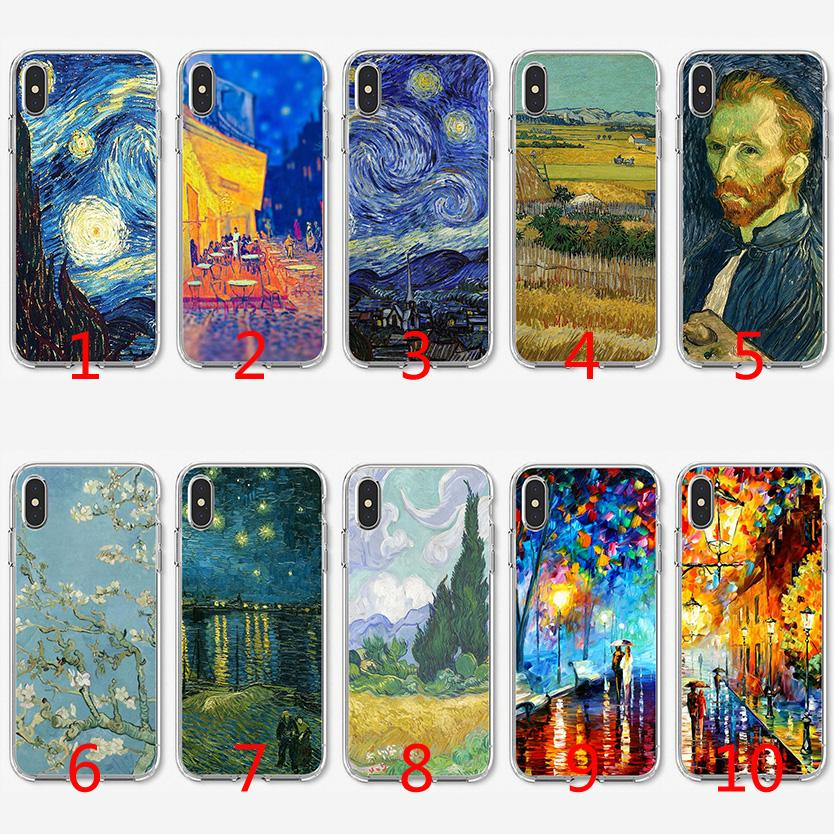 Van Gogh Soft Silicone TPU Case For IPhone X XS Max XR 8 7 Plus ...