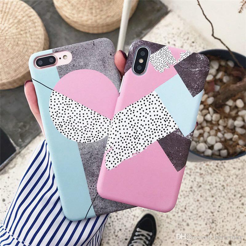 최고 품질의 다채로운 IMD 대리석 케이스 소프트 TPU 뒷 표지 아이폰 X 6 6 7 8 플러스 공장 가격에 대 한 5 디자인 전화 케이스