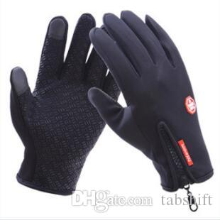 touch screen glove for men and women windproof cycling zipper sport winter warm fleece mountaineering skiing Outdoor waterproof