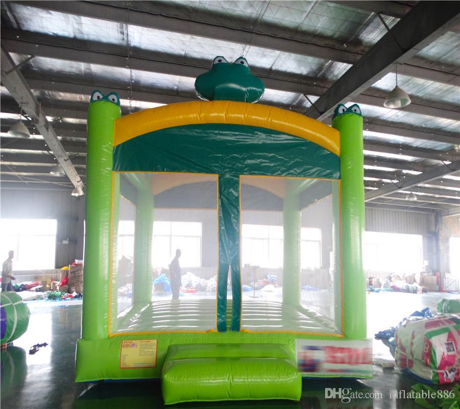 Castillo inflable inflable de la casa de la despedida de la rana linda 2018 juguete inflable para la diversión de los niños al aire libre y uso interior