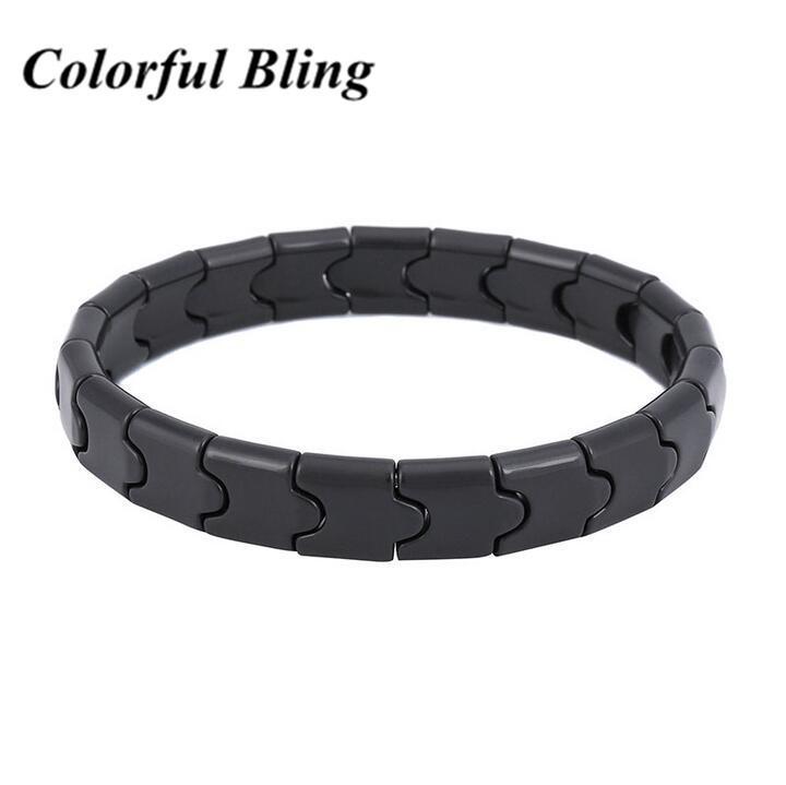 Bijoux Santé Mode pour homme et femme pierres naturelles poignet Bracelets Bracelets Tourmaline noir