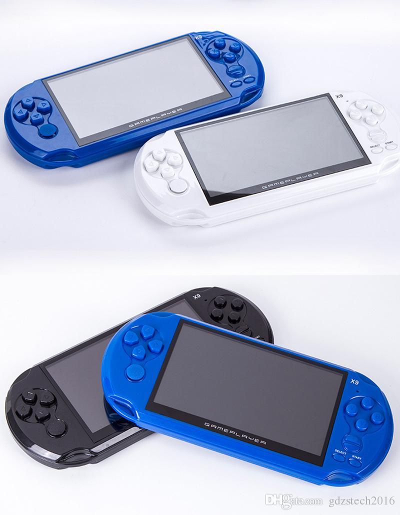 """X9 Data Frog Handheld Game Per GBA Portable Games Console per giochi MP5 per bambini con schermo da 5.0 """"da 16 GB"""