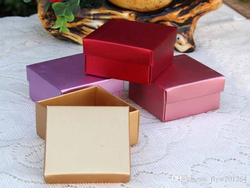 500 шт новый компьютер цвет металлический блеск бумаги конфеты коробка подарок на день рождения, свадебный подарок коробка подарок коробка