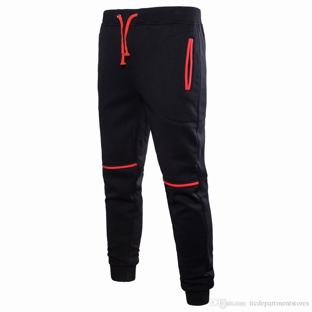 Sweatpants for Men Pure Color Pocket Overalls Casual Pocket Sport Work Casual Trouser Pants Military Pants