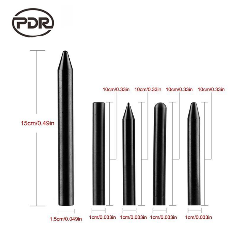 PDR Tools Black Nylon Pen Tap Down Knock Down Pen Tool Paintless Dent Repair Tools Hand Tools PDR Toolkit Ferramentas