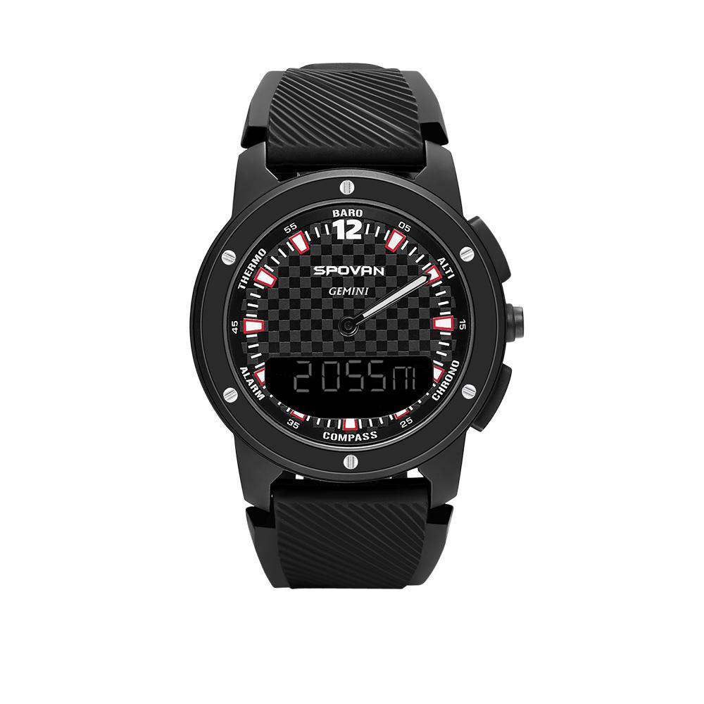 Spovan GEMINI 50M Montre Smart Watch Compass Thermomètre Numérique Montre Hommes En Plein Air Altimètre Baromètre Sport Montre-Bracelet