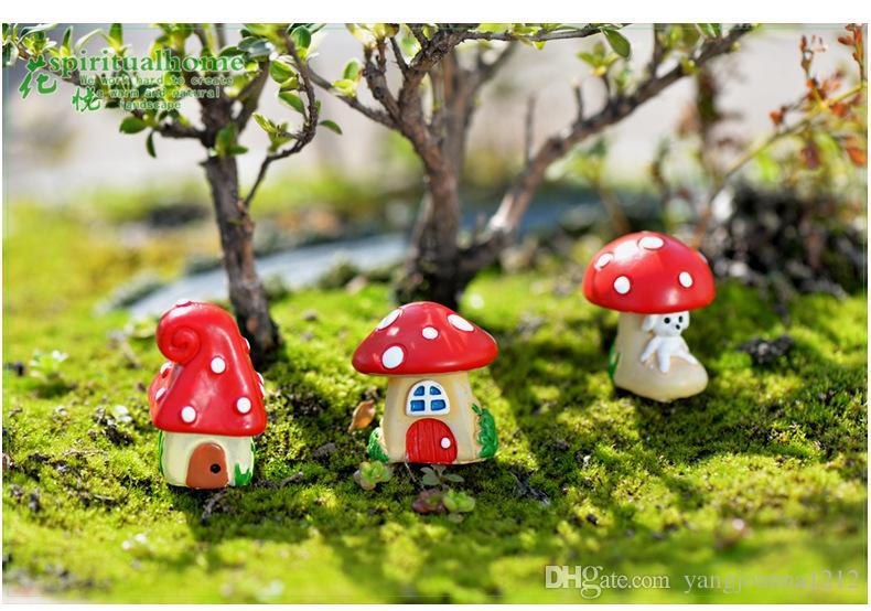 2020 Miniatures Moss Terrarium Bonsai Pot Decoration Resin