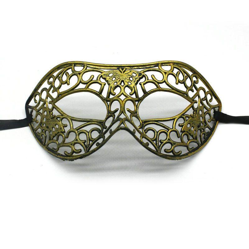 500PCS New Half Face Hollow Plastic Gold And Silver Colors Fancy Dress Retro Venetian Masquerade Party Masks ZA4843