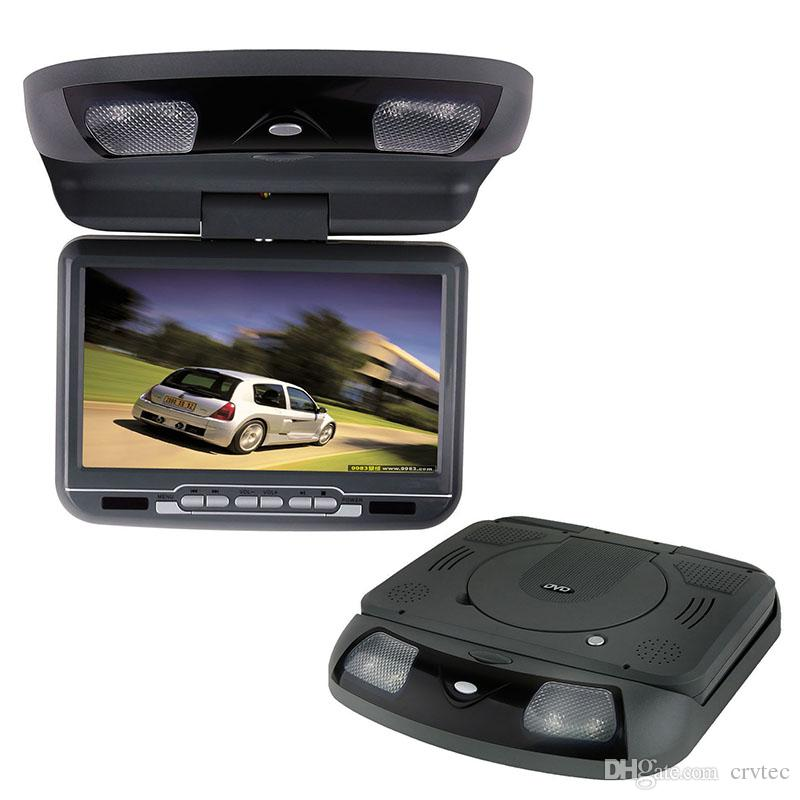 1piece 9 inch ram mount car dvd player flip down monitor 800x480 swivel screen USB SD FM radio IR game grey