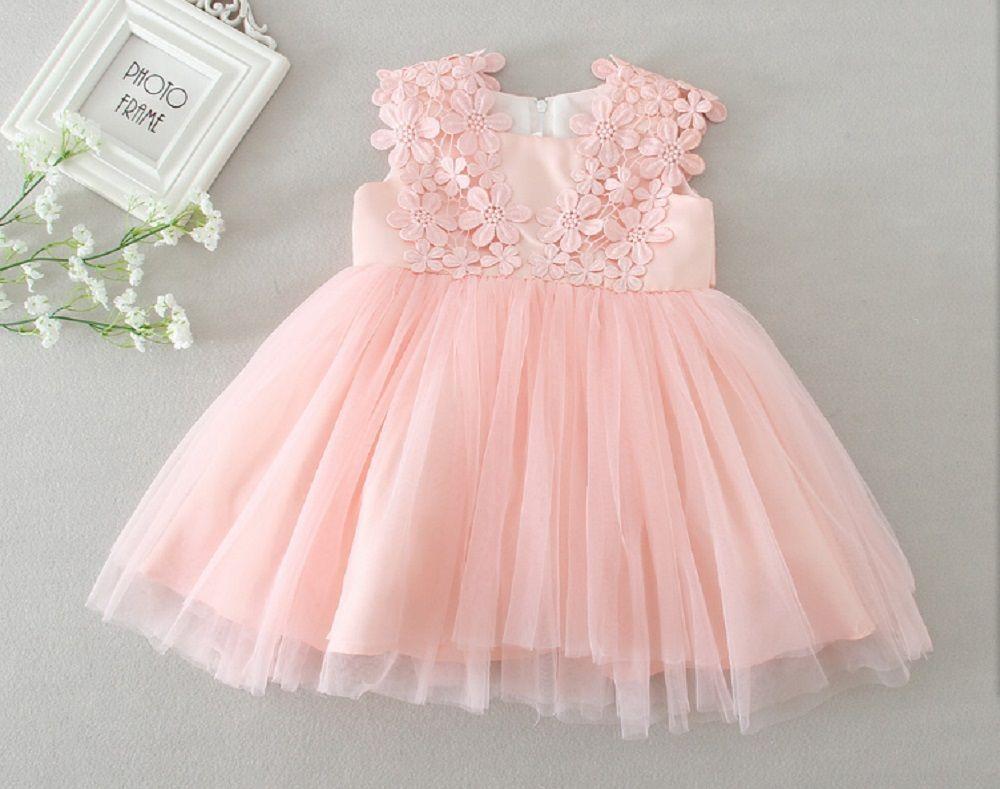 Baby Girsl Kleid Taufe Kleider Blumenmädchen Kleid