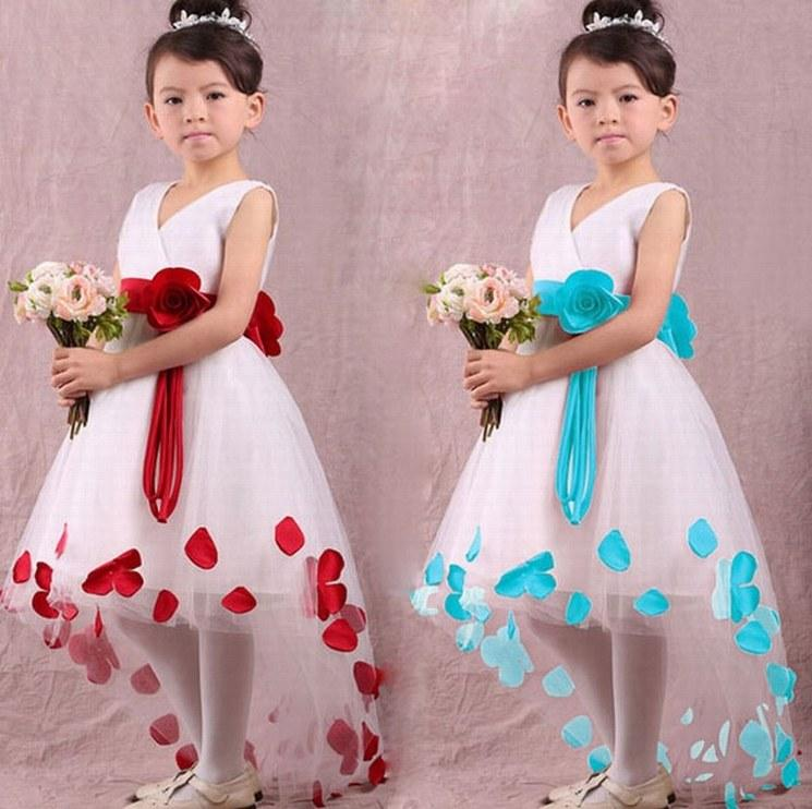 New Charming Pincess Flower Girl Abiti Pageant Kids Wedding Party Dress Bambini Occasioni speciali Compleanno Prom Dress GHTZ219