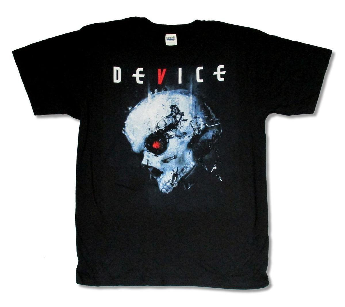 """DEVICE /""""TERMINATOR/"""" BLACK T-SHIRT NEW OFFICIAL BAND MUSIC ADULT DISTURBED"""