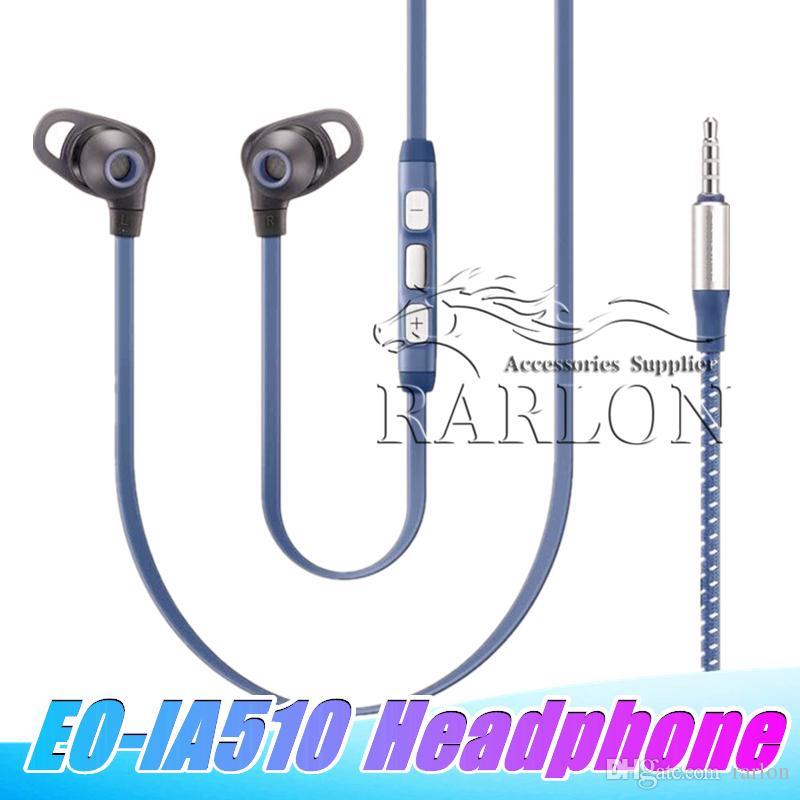 Nuovi auricolari stereo da 3,5 mm Cuffie EO-IA510 Wired auricolare in-ear Microfono auricolare per Samsung s8 s9plus nota 8 9 Con confezione per la vendita al dettaglio