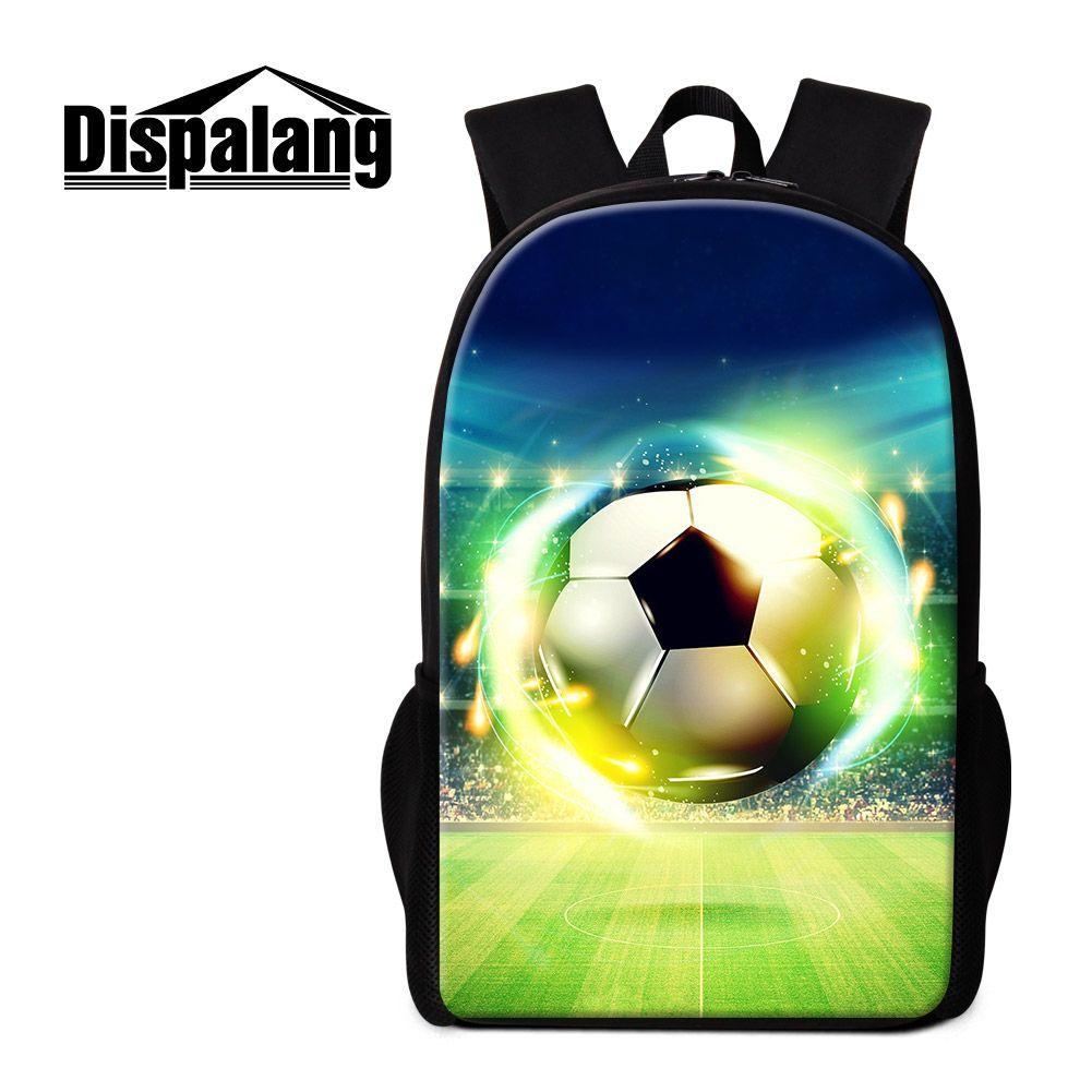 Soccer Backpack for Boys Primary Students Sports Bookbag Football Print Lightweight School Bag Children Outdoor Back Pack Coolest Rucksacks