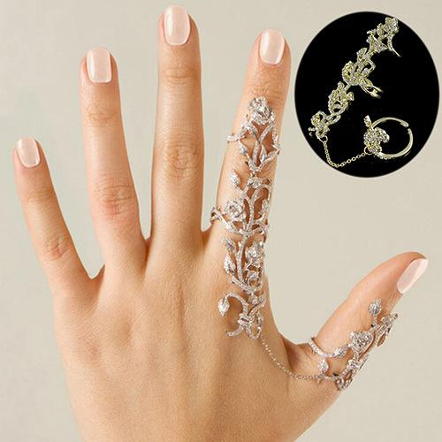 Luxurious sterling Silver Wedding Flower Hollow retro Ring women jewelry I4 G7H1