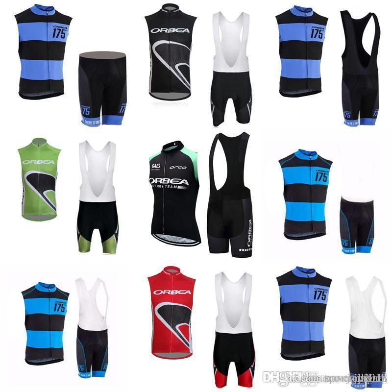 ORBEA team Cycling Sleeveless jersey Vest (bib)shorts sets 2018 New Men's Sleeveless Suit for Outdoor Bike Shirt Suit c2312