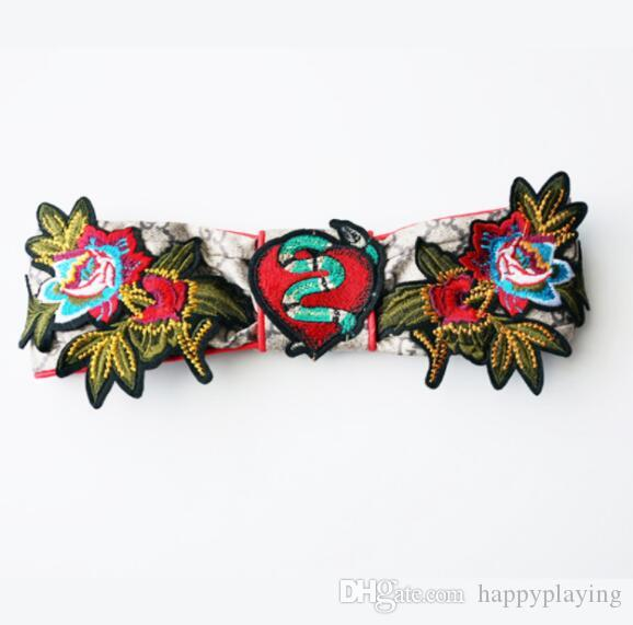 Fashion Embroidery Hairband National Wind Flower Bird Hair Band Women Satin Hair Accessories Wholesale
