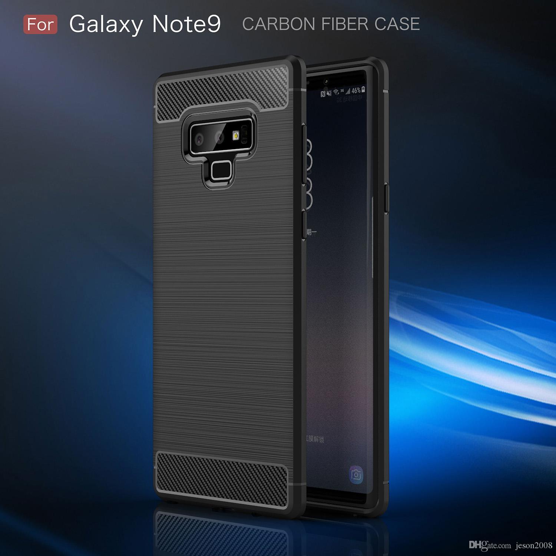 Estuche de fibra de carbono para Samsung Galaxy S10 + S10e Nota 9 8 S8 Plus S7 edge Para iPhone X Xs Máx. XR 8 7 Plus 6 6s 5 5S SE Cubierta Soft TPU Shell
