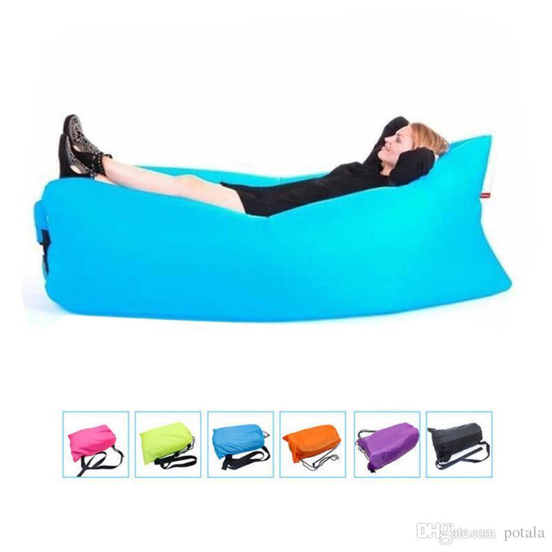 Outdoor lazy sofa Lounge Sleep Bag Lazy Inflatable Beanbag Sofa Chair Living Room Bean Bag Cushion Outdoor Self Inflated Beanbag Furniture