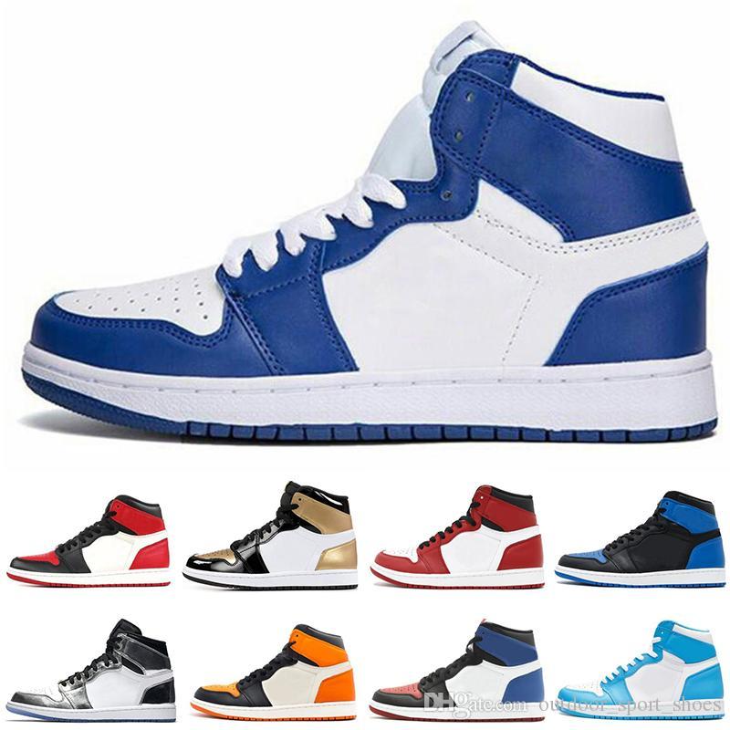 1 Top 3 Hombres Zapatillas de baloncesto Trigo Dorado Bred Toe Chicago Prohibido Royal Blue Fragmento UNC Paquete de camuflaje de tablero destrozado Sombra Zapatillas de deporte Zapatos