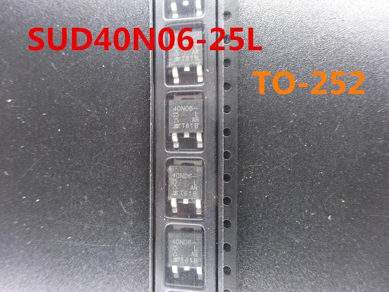 20pcs / lot nova SUD40N06-25L TO-252 transistor de efeito de campo no transporte free