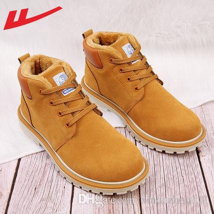 Marca Warrior Winter hombre mujer impermeable botas al aire libre parejas cuero genuino botas de nieve botas casuales Martin botas de senderismo zapatos deportivos