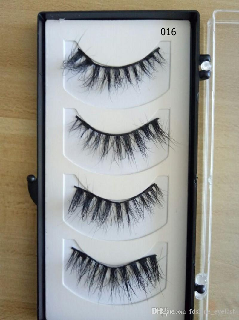 Magnetic Mink Eyelashes High Quality Easy To Wear 3D Reusable 4 Pcs/Set Two Magnet Magnetic False Eyelashes