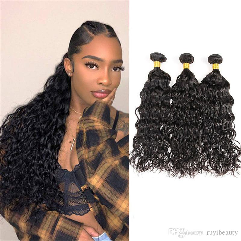 9A Brazilian Water Wave 3 Bundles Human Hair Extensions Wet And Wavy Water Weaves 8-28 inch 3 pieces/lot