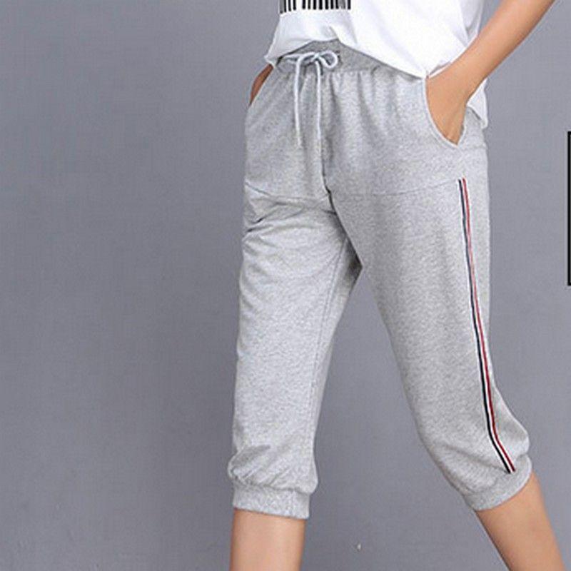 new release best sneakers good looking 2020 PLAMTEE Women Pants 2017 Summer Elegant Linen Three Quarter ...