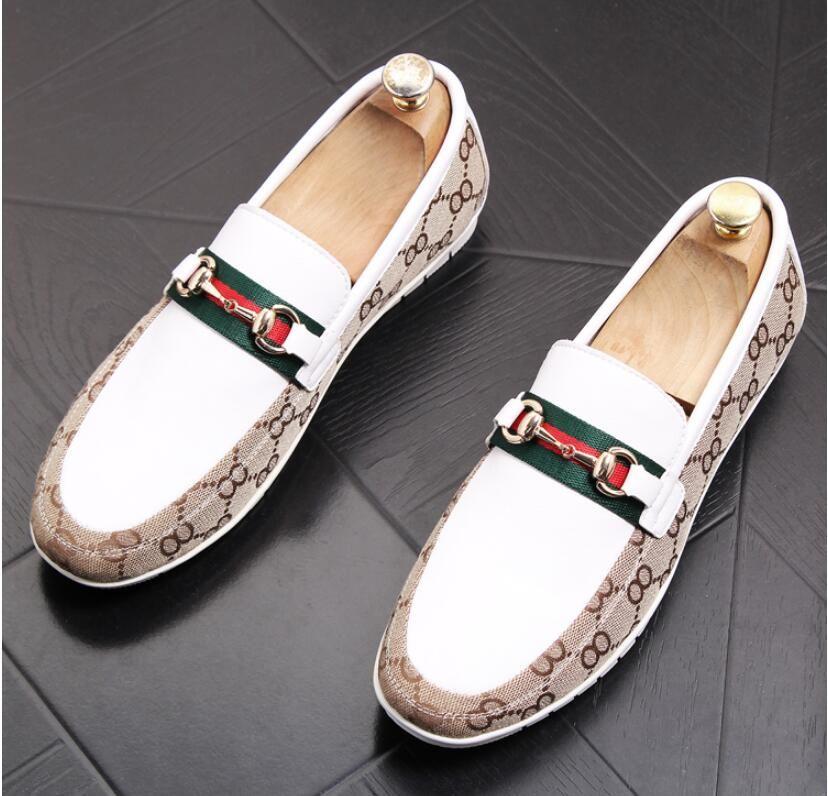 2019 جديد أزياء رجالية أحذية عادية عالية الجودة المتسكعون الجلود الفاخرة مصمم العلامة التجارية الايطالية الرجال الأحذية الشقق تنفس النعال BMM323