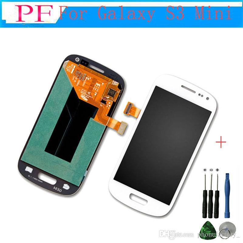 Orijinal Samsung Galaxy S3 Mini I8190 Için Yüksek Kalite LCD ekran sayısallaştırıcı ile Tam ekran Dokunmatik Ekran + Ücretsiz Aracı