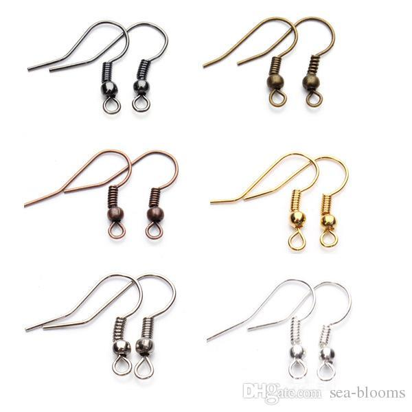 200pcs 925 Silver Plated Surgical Steel Ear Wire Coil Hooks Jewelry Making DIY