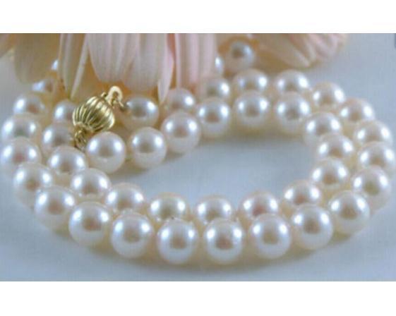 Collana in oro bianco 14k con perla in oro bianco 14 kt da 11,5 pollici, 10 mm