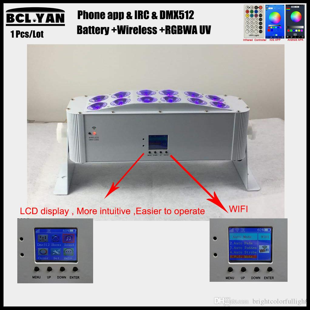 New 2018 Battery Powered Wireless DMX LED Wall Washer Wifi IR Remote 12*18w DJ led wash light for dj