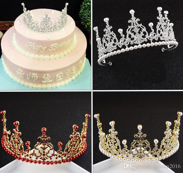 Swell Bridal Headwear Birthday Crown Pearl Jewelry Makeup Wedding Funny Birthday Cards Online Kookostrdamsfinfo