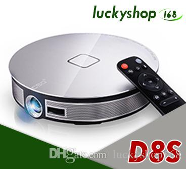 D8S Android 6.0 DLP Projector Rockchip RK3368 Octa Core 2GB 32GB Beamer Supports 2.4G/5G Wifi Bluetooth Portable 4K Home Media Player 5pcs