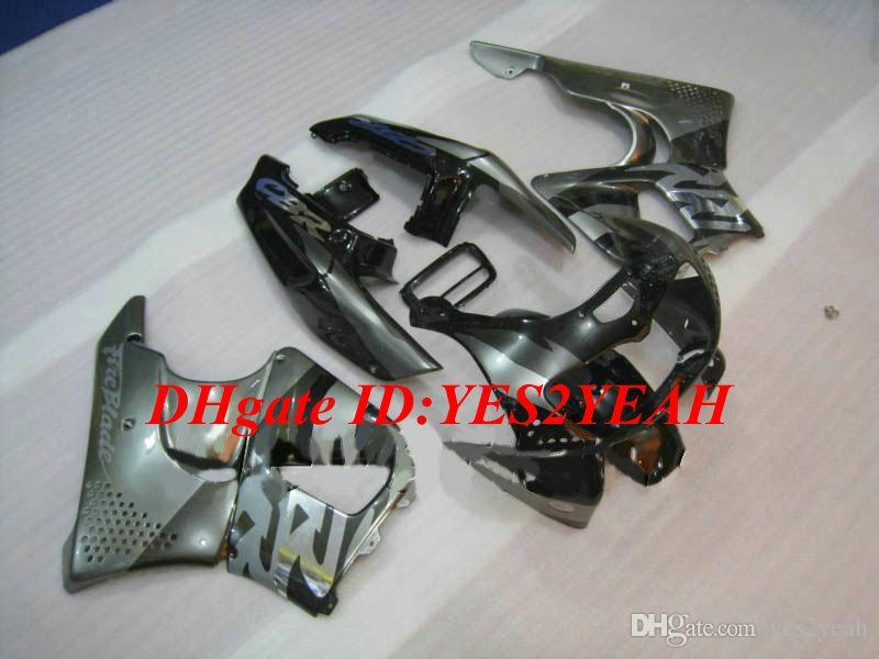 Honda CBR900RR için motosiklet Fairing kiti 893 96 97 CBR 900RR CBR900 1996 1997 ABS Yeni Gümüş siyah Fairings seti + Hediyeler HX05