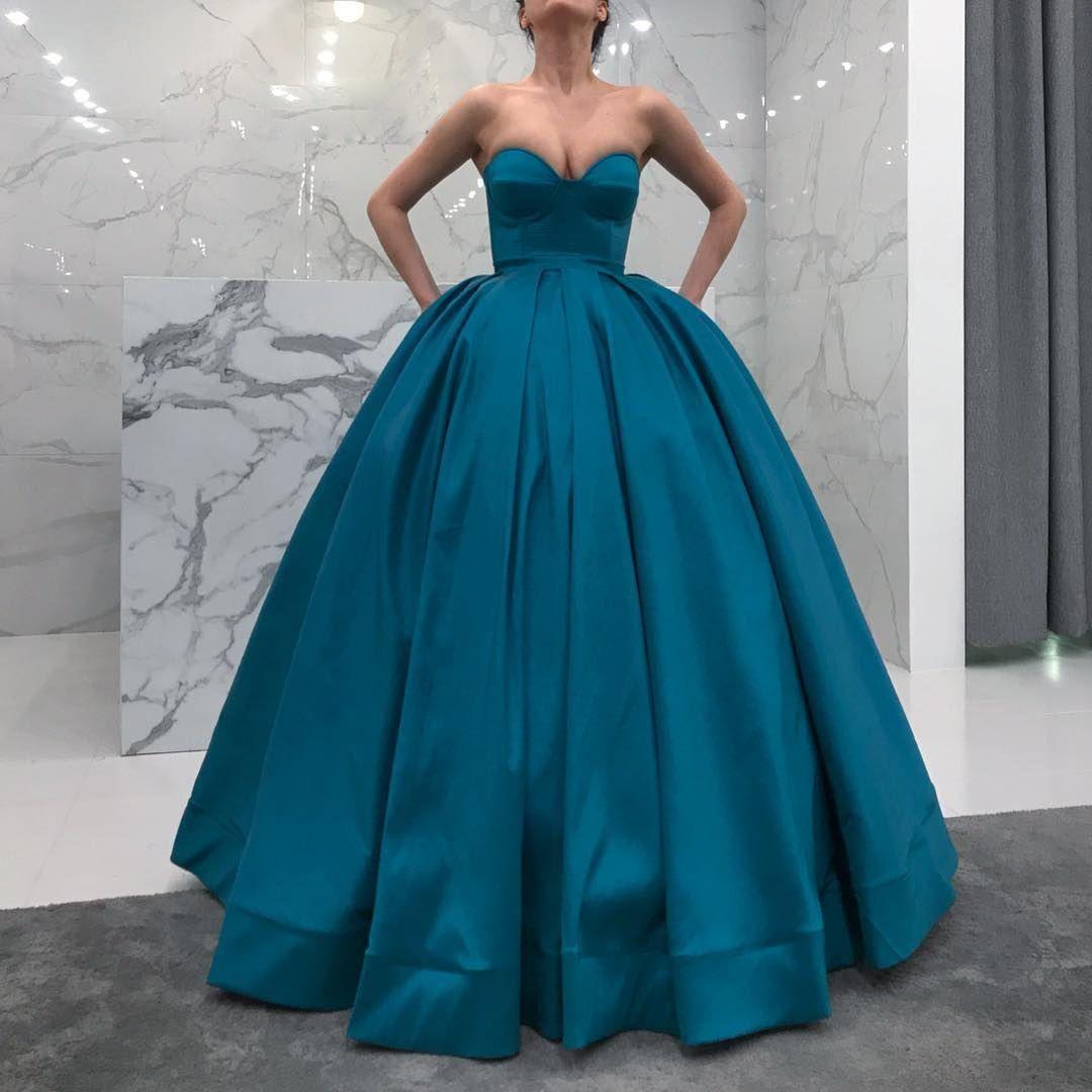 Hunter sfera Prom Dresses dell'abito lungo Sweetheart Backless del pavimento delle pieghe di lunghezza da Cerimonia Abito da sera vestidos de fiesta