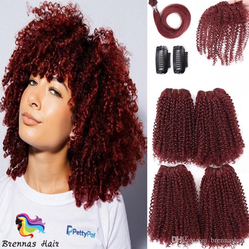 Hot selling 8pcs/pack 12inch 16inch afro kinky curly tiny curly synthetic hair extension one pack for full head afro mini curl weave