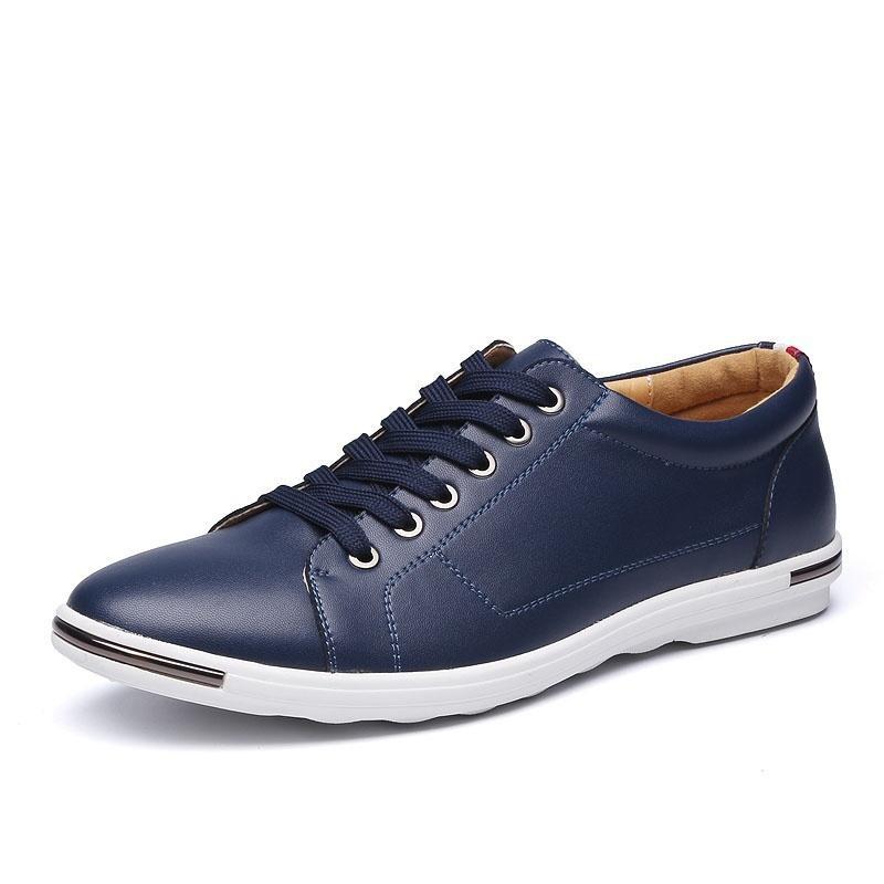 2018 Nouveau Sapato Masculino Zapatillas Hombre Hot Hommes En Cuir Oxford Chaussures Casual Appartements Business Plus Taille 38-48